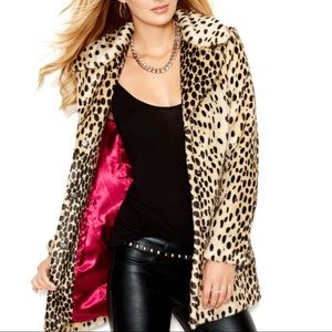 Guess leopard faux fur coat